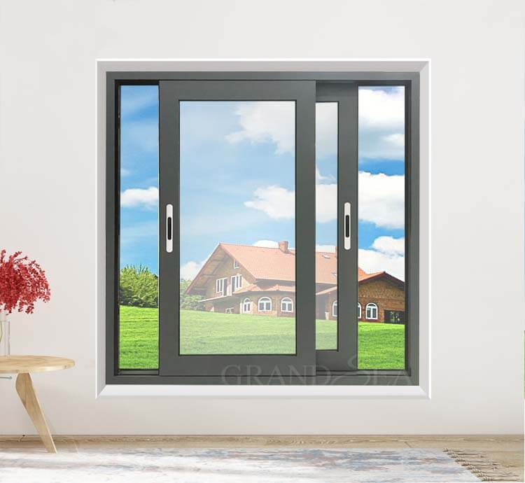 sliding double glass window