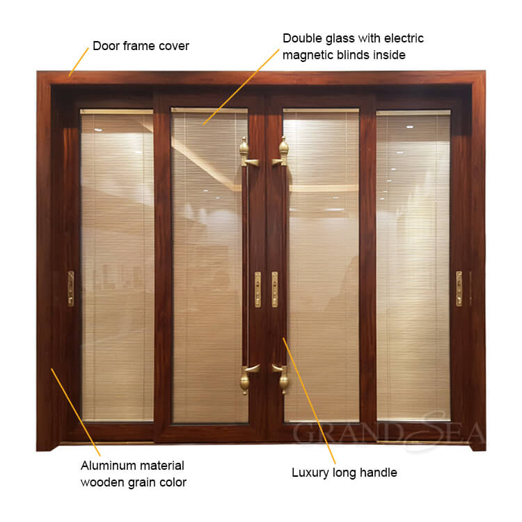 large aluminum glass sliding door