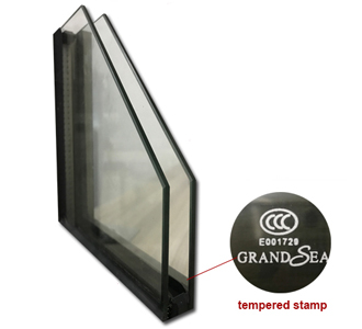 double glass aluminium casement window