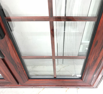 aluminium window with grill design