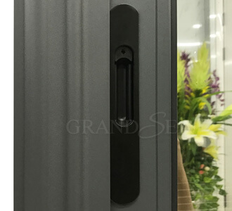 grey aluminium sliding window