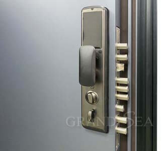 solid steel security doors