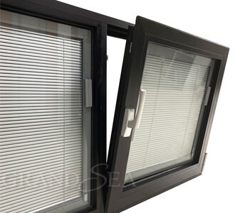 powder coating aluminum tilt turn window