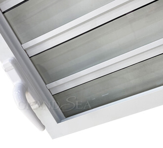 aluminum glass jalousie window