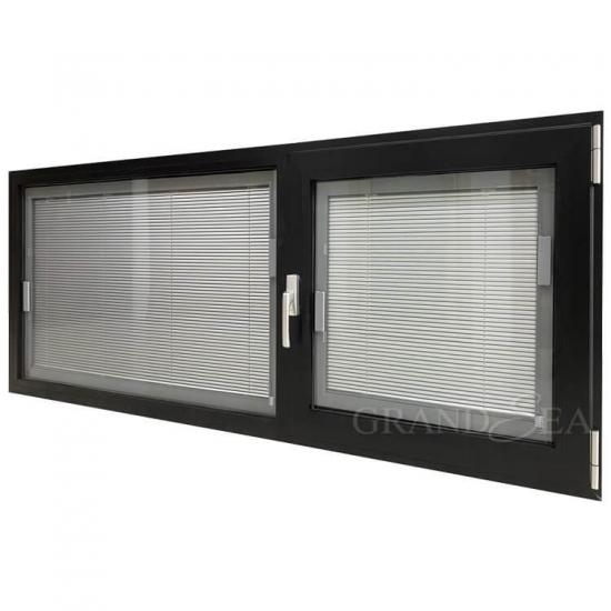 black aluminum tilt turn window